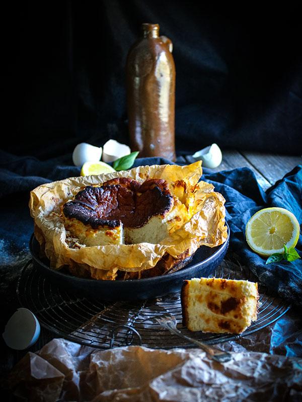 Burnt Basque Cheesecake med yuzu