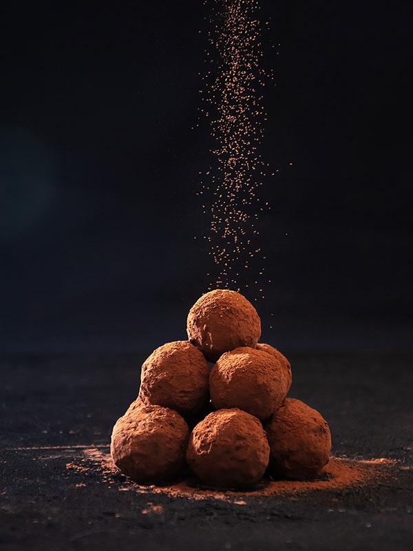 Mörk chokladtryffel med cognac