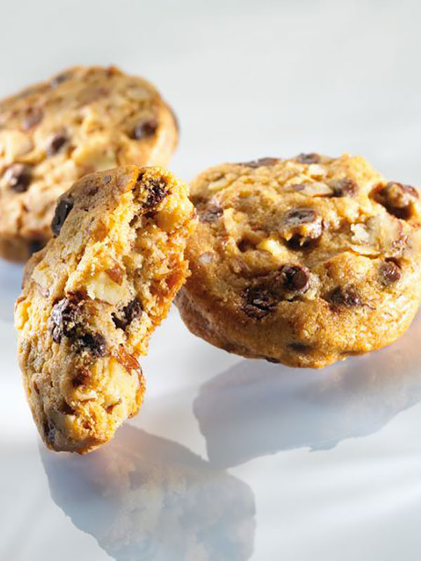 Chocolatechip cookies med pekannötter - Valrhona